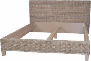 Home affaire Bett »Rattanbett«, aus handgeflochtenem Rattan, mit einem Kopfteil von 90 cm, Höhe